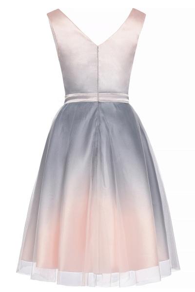 Elegant V-Neck Gradient A-line Mini Homecoming Dress_11