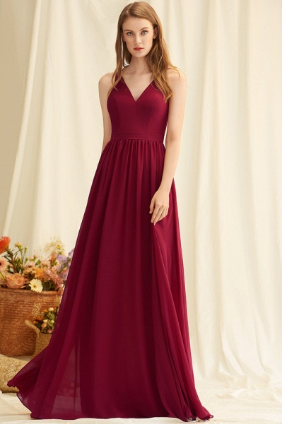 A-Line Floor-Length Chiffon Evening Dress With Lace_3