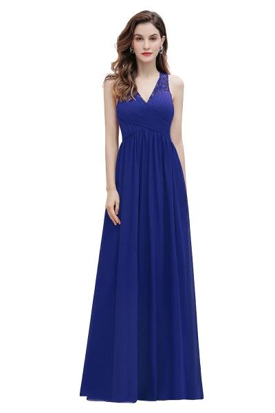 V-Neck A-line Chiffon Sleeveless Evening Maxi Dress_2