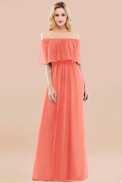 A-line Chiffon Off-the-Shoulder Short-Sleeves Ruffles Floor-length Bridesmaid Dress_45