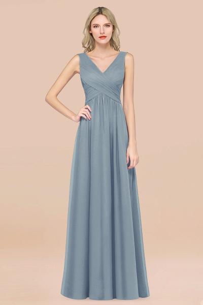 A-Line Chiffon Straps V-Neck Sleeveless Floor-Length Bridesmaid Dress with Ruffles_40