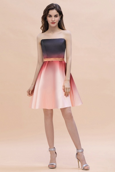 Sleeveless Sweetheart Gradient Satin Evening Prom Dress_2