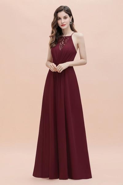 Straps Bateau A-line Sequins Chiffon Evening Prom Dress_6