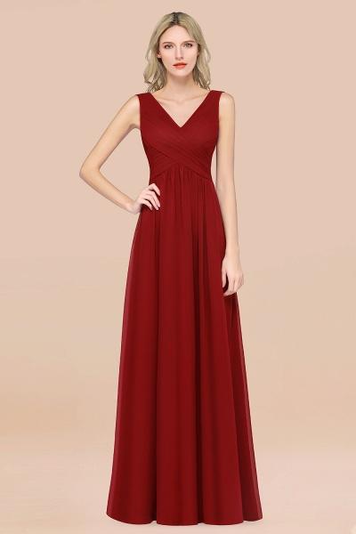 A-Line Chiffon Straps V-Neck Sleeveless Floor-Length Bridesmaid Dress with Ruffles_48