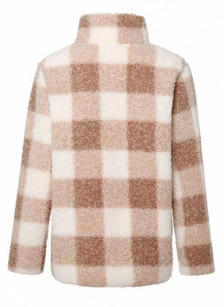 High Neckline Color Block Casual Loose Regular Zipper Sweaters_9
