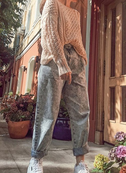 Round Neckline Solid Casual Loose Regular Shift Sweaters_6