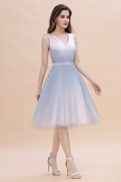 Elegant V-Neck Gradient A-line Mini Homecoming Dress_10