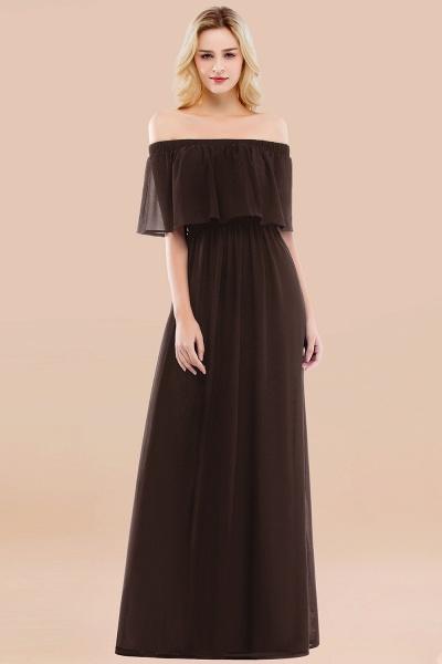 A-line Chiffon Off-the-Shoulder Short-Sleeves Ruffles Floor-length Bridesmaid Dress_11