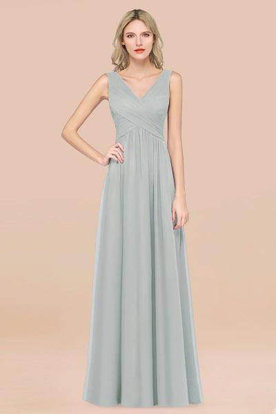 A-Line Chiffon Straps V-Neck Sleeveless Floor-Length Bridesmaid Dress with Ruffles_38