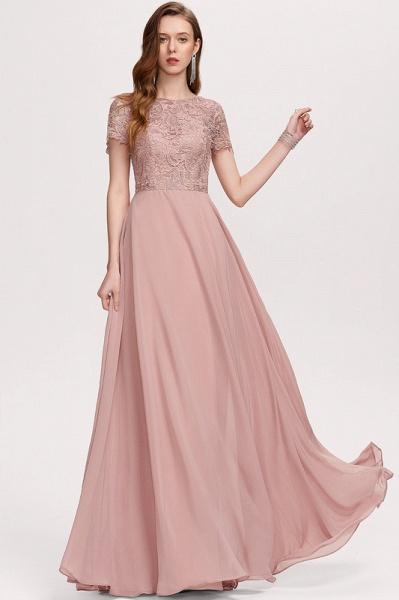 A-Line Scoop Neck Floor-Length Chiffon Evening Dress_4