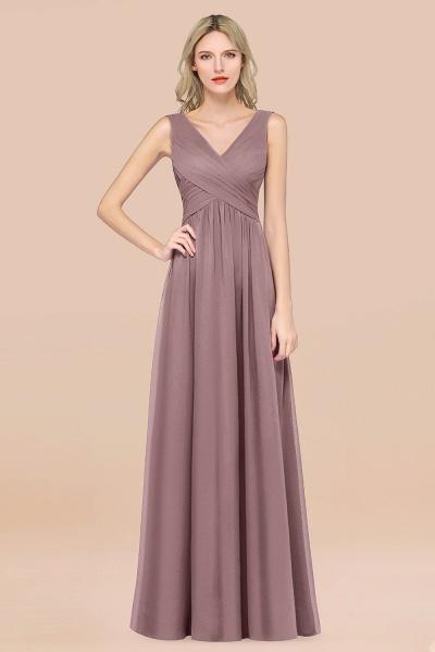 A-Line Chiffon Straps V-Neck Sleeveless Floor-Length Bridesmaid Dress with Ruffles_37