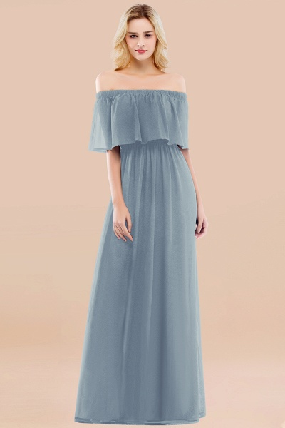 A-line Chiffon Off-the-Shoulder Short-Sleeves Ruffles Floor-length Bridesmaid Dress_40