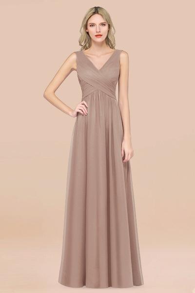 A-Line Chiffon Straps V-Neck Sleeveless Floor-Length Bridesmaid Dress with Ruffles_16