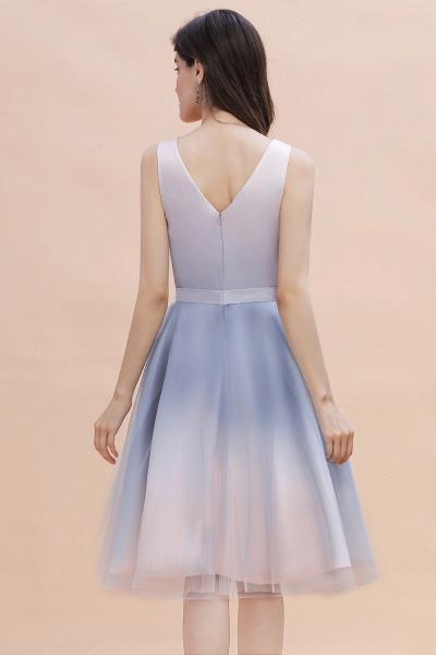 Elegant V-Neck Gradient A-line Mini Homecoming Dress_3