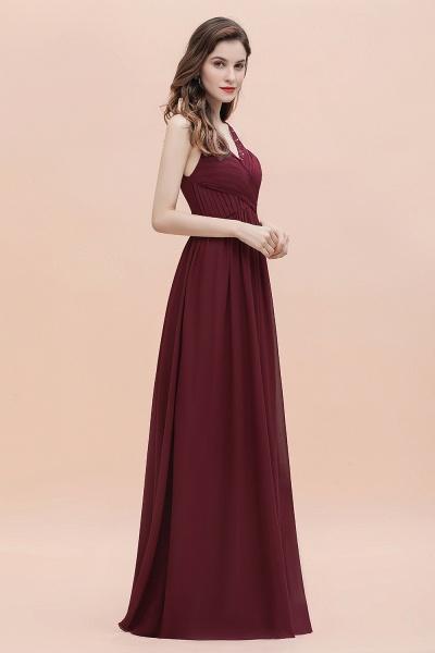 V-Neck A-line Chiffon Sleeveless Evening Maxi Dress_6