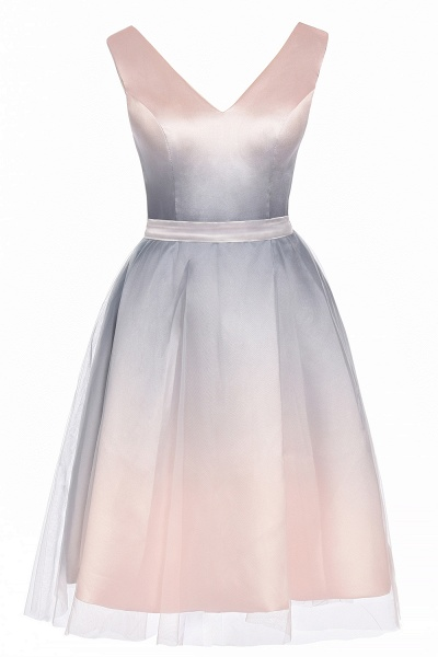 Elegant V-Neck Gradient A-line Mini Homecoming Dress_12