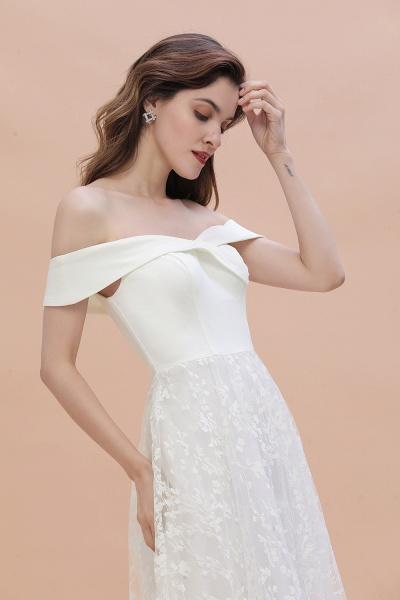 A-Line Off The Shoulder Lace Long Wedding Dress_4