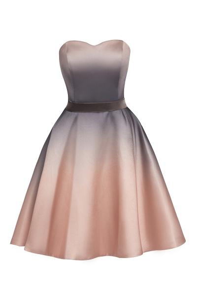 A-line Sweetheart Gradient Short Evening Party Dress_12