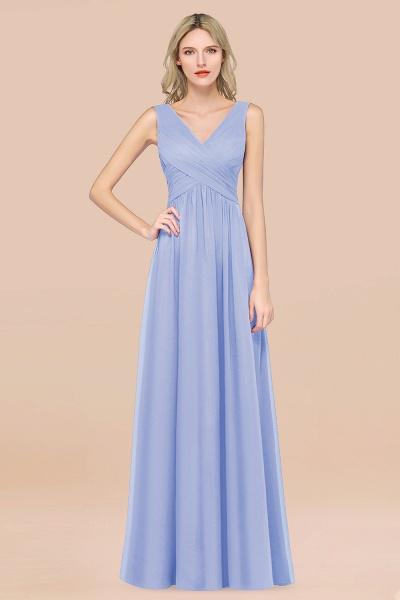A-Line Chiffon Straps V-Neck Sleeveless Floor-Length Bridesmaid Dress with Ruffles_22
