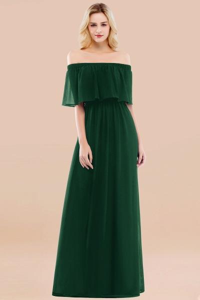 A-line Chiffon Off-the-Shoulder Short-Sleeves Ruffles Floor-length Bridesmaid Dress_31