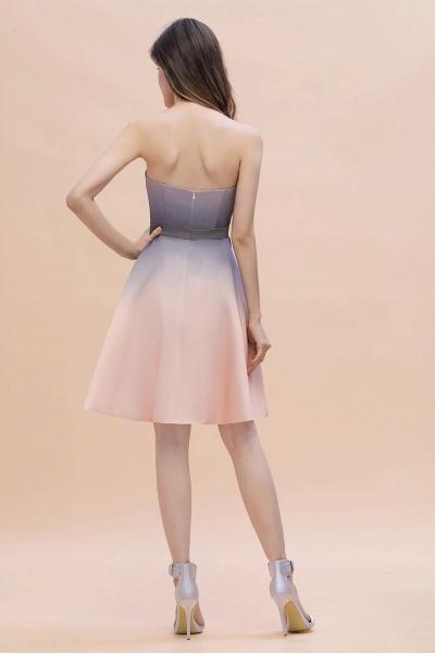 A-line Sweetheart Gradient Short Evening Party Dress_3