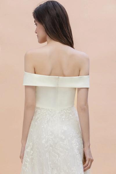 A-Line Off The Shoulder Lace Long Wedding Dress_6