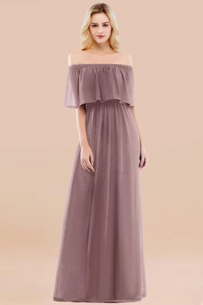 A-line Chiffon Off-the-Shoulder Short-Sleeves Ruffles Floor-length Bridesmaid Dress_37