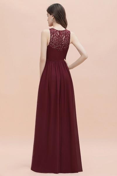 V-Neck A-line Chiffon Sleeveless Evening Maxi Dress_5