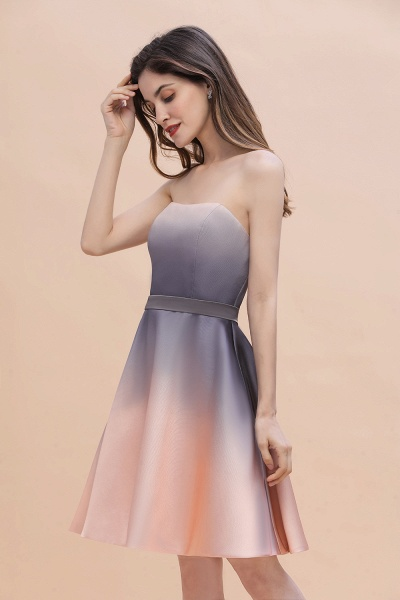 A-line Sweetheart Gradient Short Evening Party Dress_7