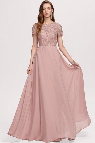A-Line Scoop Neck Floor-Length Chiffon Evening Dress_3