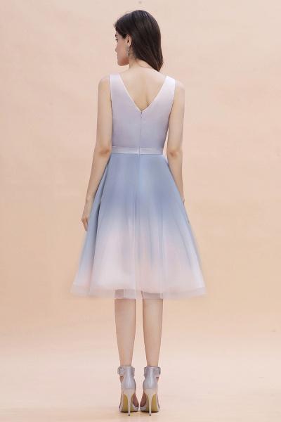 Elegant V-Neck Gradient A-line Mini Homecoming Dress_4