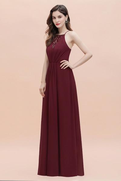 Straps Bateau A-line Sequins Chiffon Evening Prom Dress_9