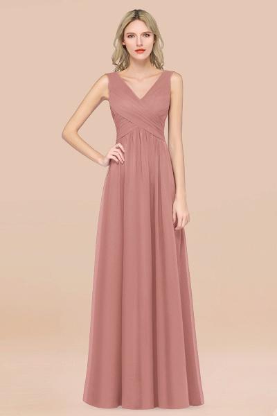 A-Line Chiffon Straps V-Neck Sleeveless Floor-Length Bridesmaid Dress with Ruffles_50