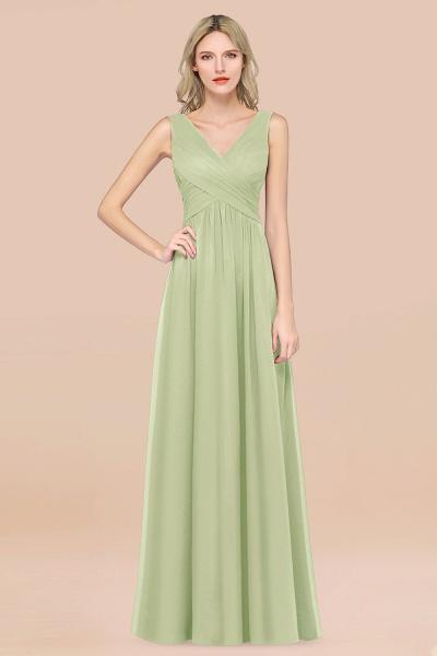 A-Line Chiffon Straps V-Neck Sleeveless Floor-Length Bridesmaid Dress with Ruffles_35