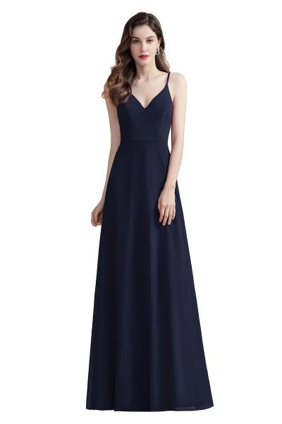 Elegant Straps V-Neck Chiffon Evening Formal Dress_3