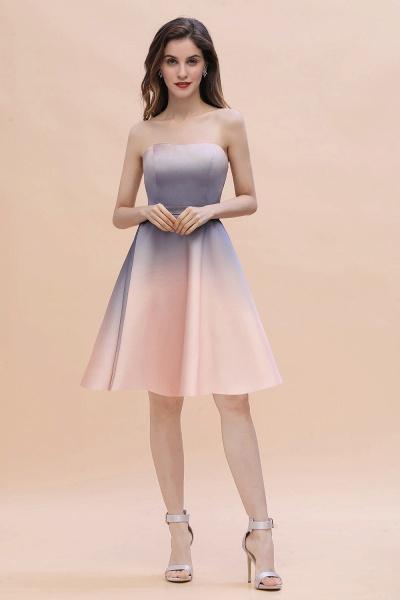 A-line Sweetheart Gradient Short Evening Party Dress_11