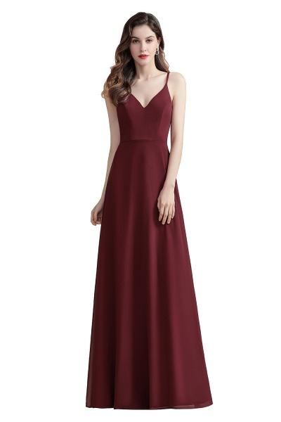 Elegant Straps V-Neck Chiffon Evening Formal Dress_1