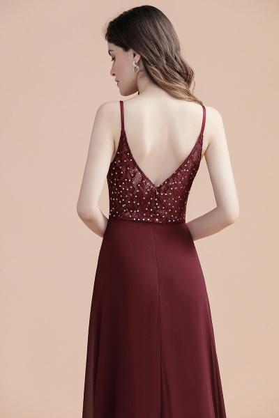 Elegant Straps V-Neck Chiffon Evening Formal Dress_6