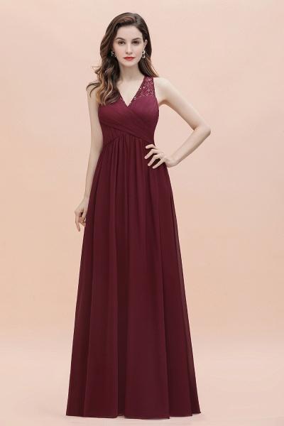 V-Neck A-line Chiffon Sleeveless Evening Maxi Dress_8