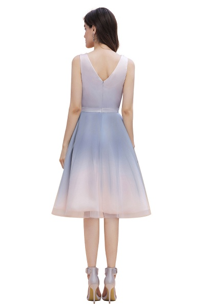 Elegant V-Neck Gradient A-line Mini Homecoming Dress_8