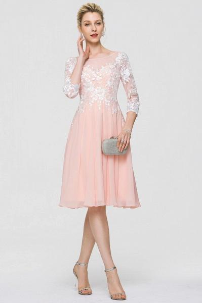 A-Line Scoop Neck Knee-Length Chiffon Cocktail Dress_3