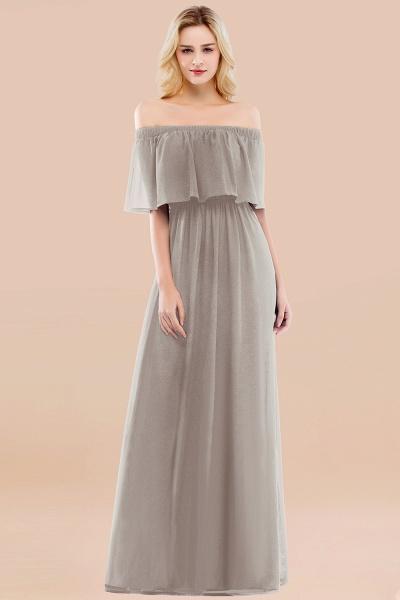 A-line Chiffon Off-the-Shoulder Short-Sleeves Ruffles Floor-length Bridesmaid Dress_30