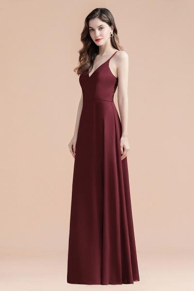 Elegant Straps V-Neck Chiffon Evening Formal Dress_7