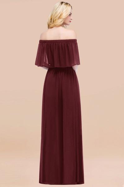 A-line Chiffon Off-the-Shoulder Short-Sleeves Ruffles Floor-length Bridesmaid Dress_52