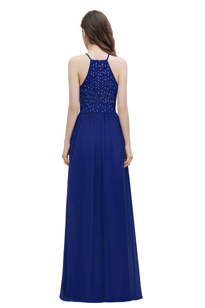 Halter Sequins A-line Chiffon Evening Dress_11