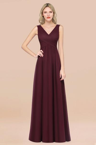 A-Line Chiffon Straps V-Neck Sleeveless Floor-Length Bridesmaid Dress with Ruffles_47