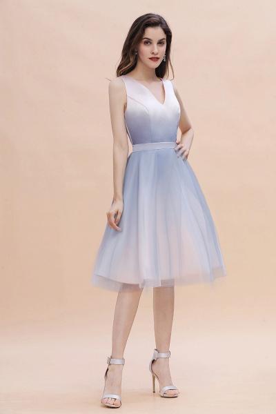 Elegant V-Neck Gradient A-line Mini Homecoming Dress_6