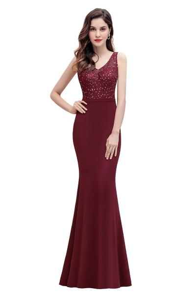 V-Neck Mermaid Evening Dress Sequins Chiffon Slim Party Dress_1