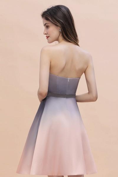 A-line Sweetheart Gradient Short Evening Party Dress_8