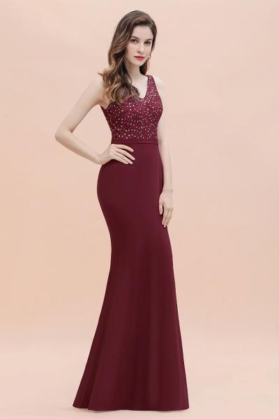 V-Neck Mermaid Evening Dress Sequins Chiffon Slim Party Dress_9
